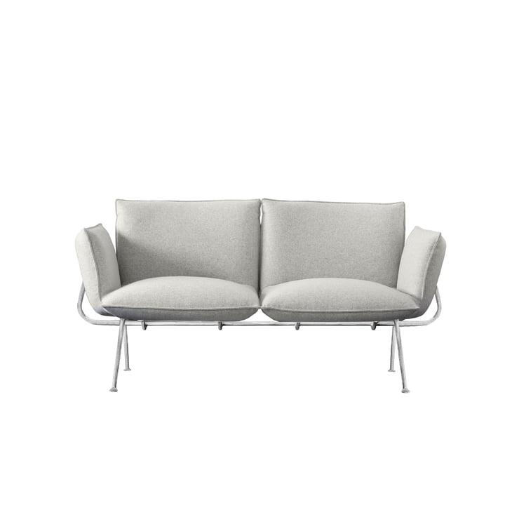 Officina 2 pers. Sofa, ramme forsinket / dækket lys grå (Divina Melange 120) af Magis