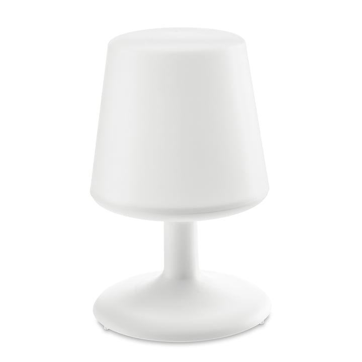Lys til at gå batteribordlampe i bomuld hvid af Koziol