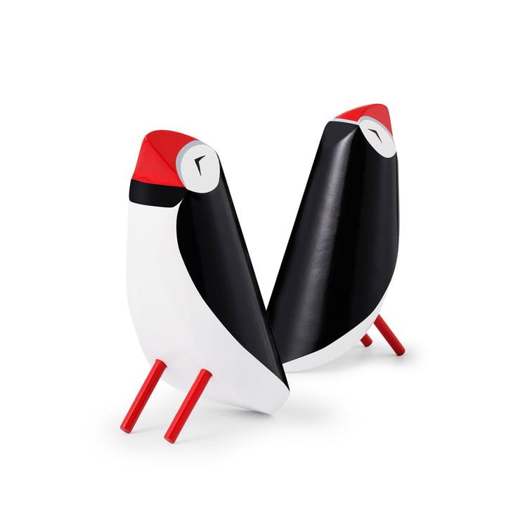 Puffing papegøje figur, sort / hvid af Normann Copenhagen