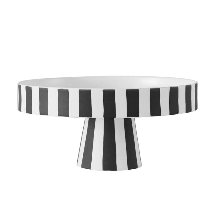 Toppu bakke, Ø 20 x H 9 cm i sort / hvid fra OYOY