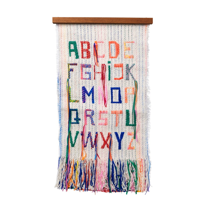 ABC Tapestry 33 x 61 cm ved ferm Living in multi
