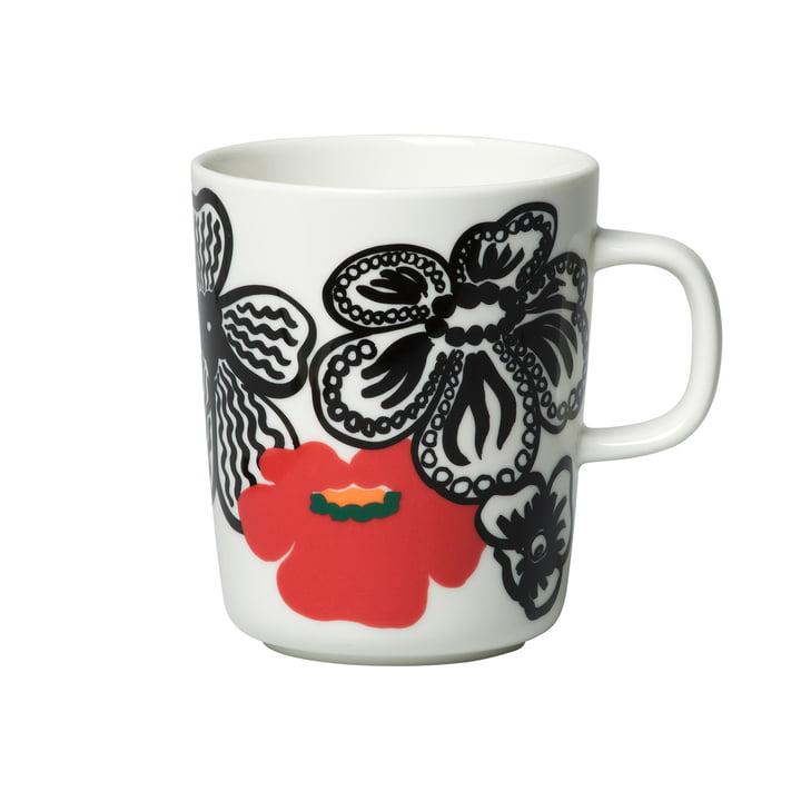 Oiva Kaukokaipuu krus med håndtag 250 ml af Marimekko i hvid / lilla / rød