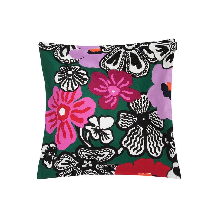 Kaukokaipuu pudebetræk 45 x 45 cm af Marimekko i grøn / lilla / rød
