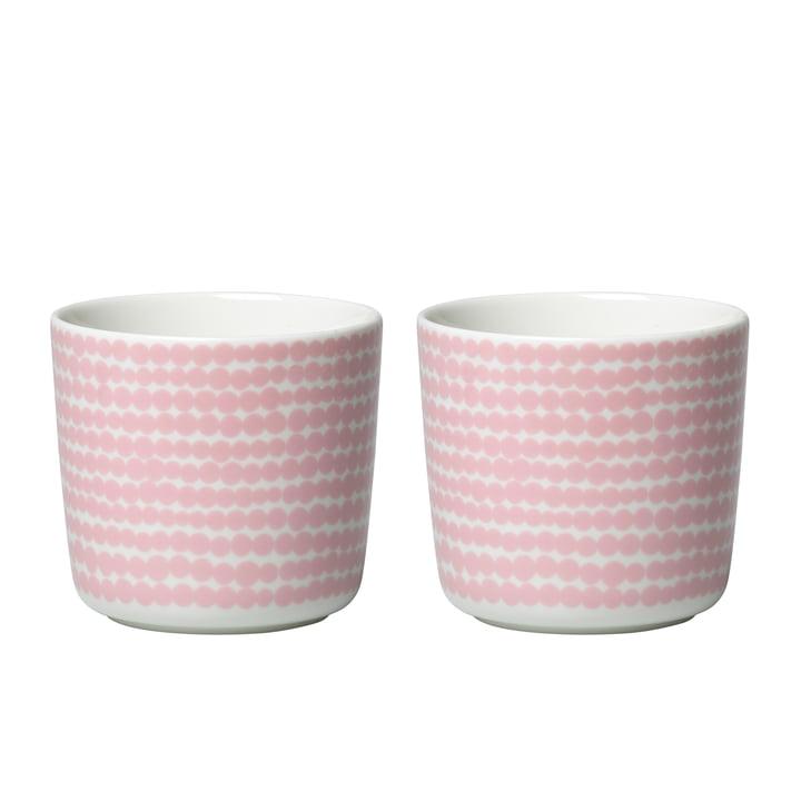 Oiva Siirtolapuutarha krus (sæt med 2) 200 ml af Marimekko i hvid / lyserød