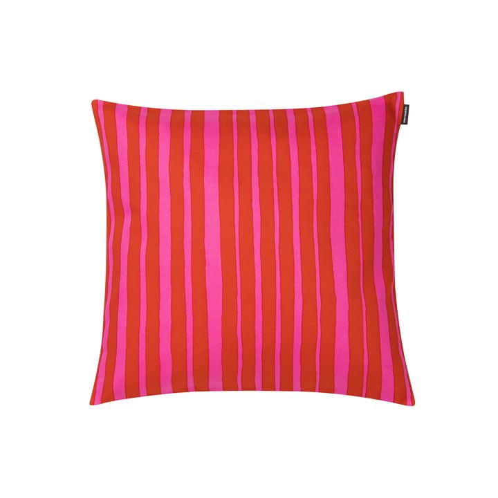 Raide pudebetræk 40 x 40 cm af Marimekko i rød / pink