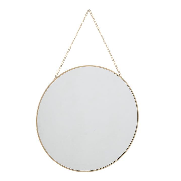 Vægspejl med kædesuspension Ø 38 cm fra Bloomingville i guld