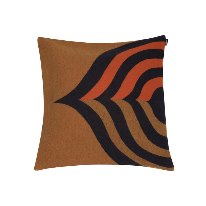 Keisarinkruunu pudebetræk 50 x 50 cm af Marimekko i brun / sort / orange
