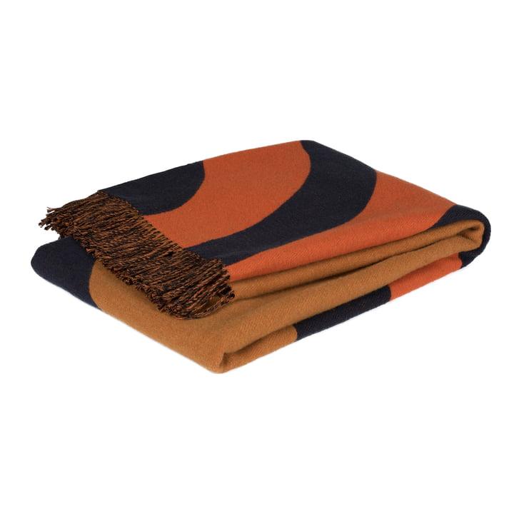 Keisarinkruunu tæppe 130 x 170 cm af Marimekko i brun / sort / orange