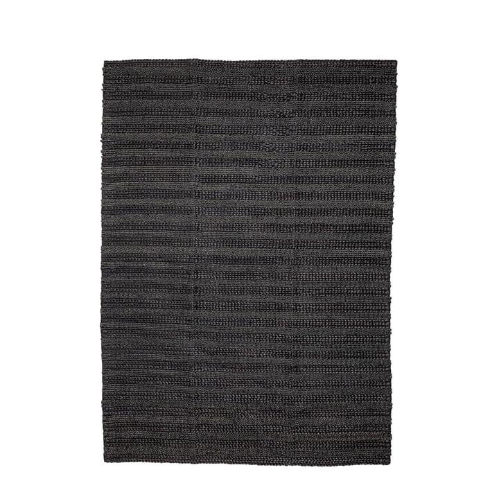 Naturfiber tæppe 210 x 150 cm fra Bloomingville i sort