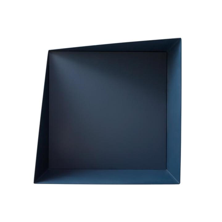 Wall Box Shelving System i marineblå ved vent venligst at blive siddende