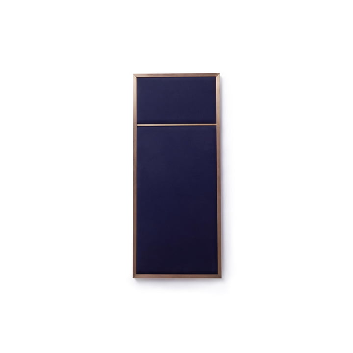 Nouveau pinboard S, 62,3 x 27,6 cm, messing / navy blue af Please wait to be seated