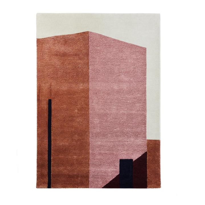 Arqui Tæppe 1, 170 x 240 cm, indianrød / fersken ved vent venligst at blive siddende