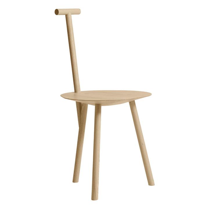 Spade stol i as ved vent venligst at blive siddende