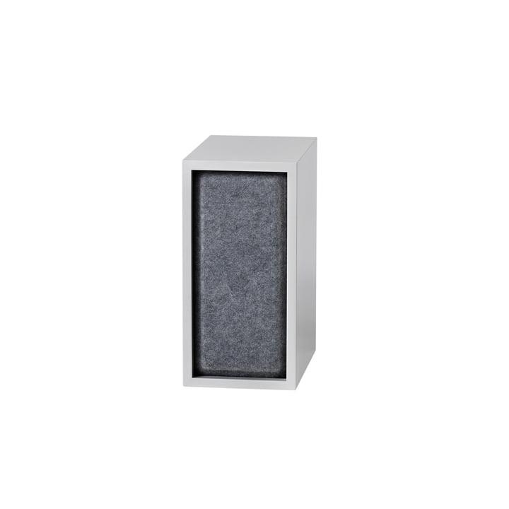 Stakket akustisk panel, lille i grå melange af Muuto