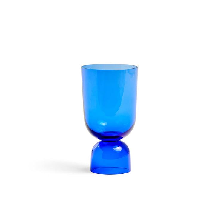 Bottoms Up Vase S, Ø 11,5 x H 21,5 cm i elektrisk blå af Hay