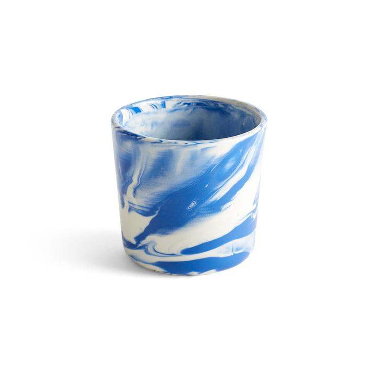 Marbled Cup, Ø 8 x H 7,5 cm, blå af Hay