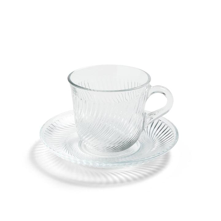 Pirouette kop og tallerken Ø 14 x H 9 cm ved høst i klar