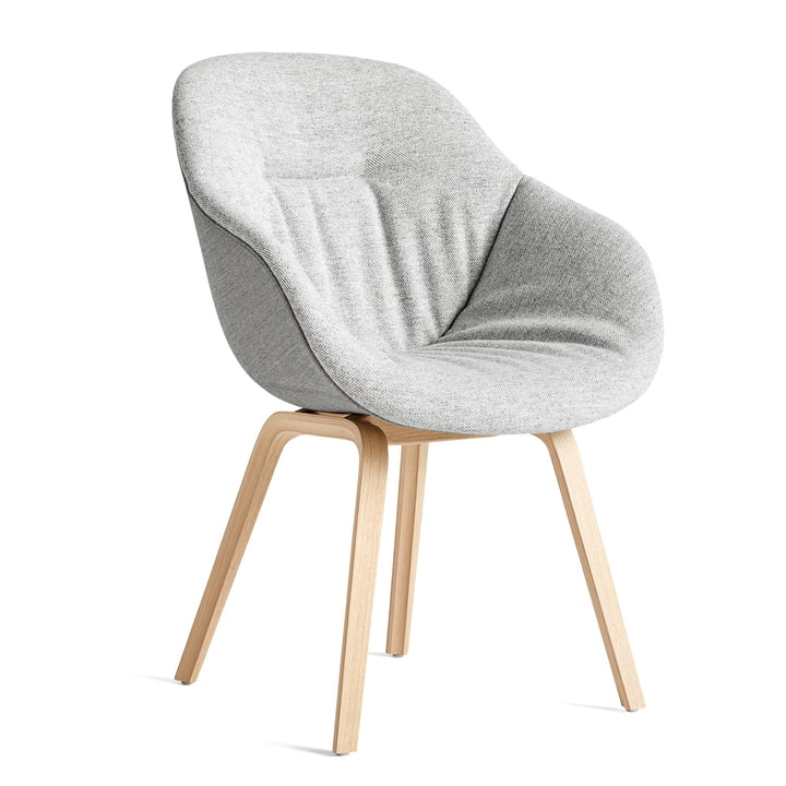 About A Chair AAC 123 Soft Duo, matlakeret eg / indre pude Hallingdal 116 / reverse Remix 133 af Hay