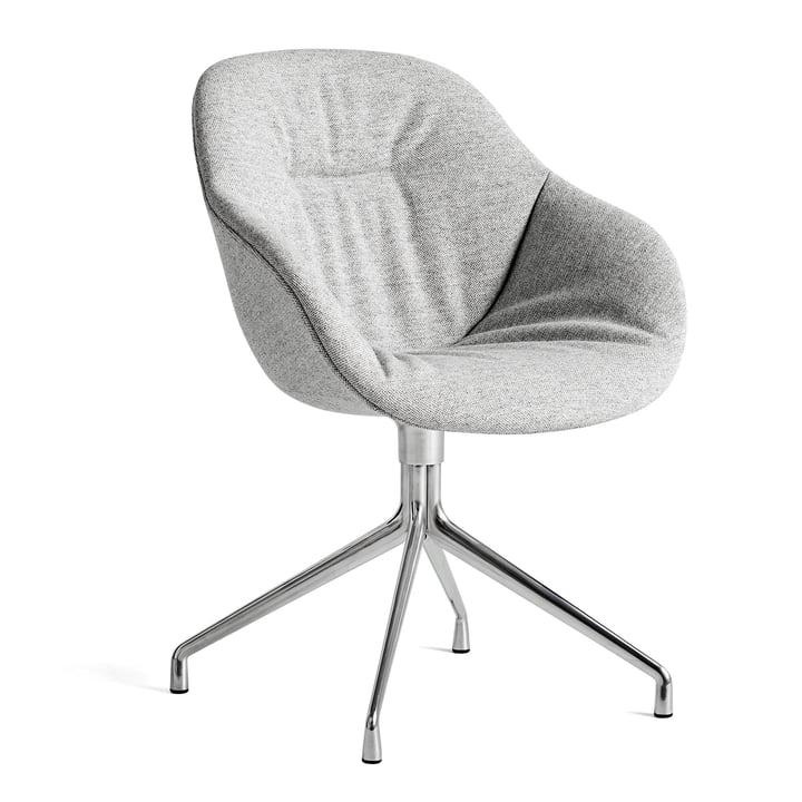 Om en stol AAC 121 Blødt, poleret aluminium / Hallingdal 116 af Hay