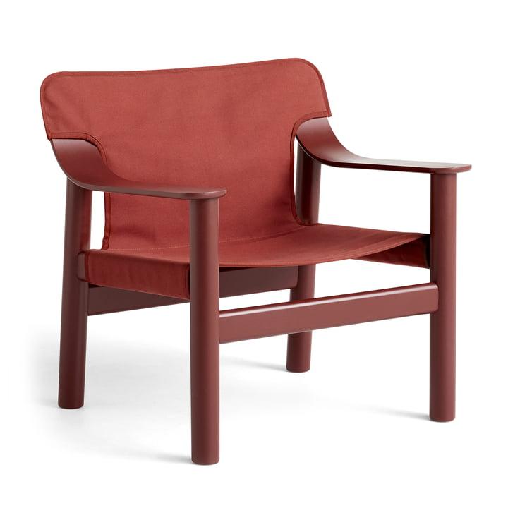 Bernard lænestol, lakeret bøg / lærred brun rød af Hay