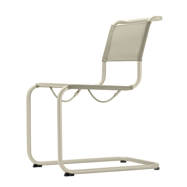 S 33 N All Seasons stol af Thonet med stel i varm grå (TS 3005) / stof naturlig