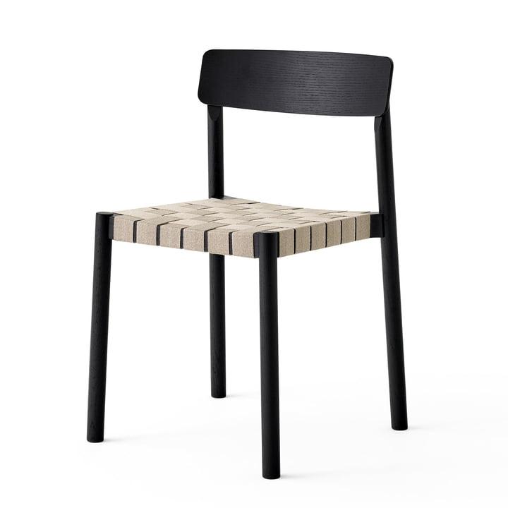 Betty TK1 stol i sort / natur af & tradition
