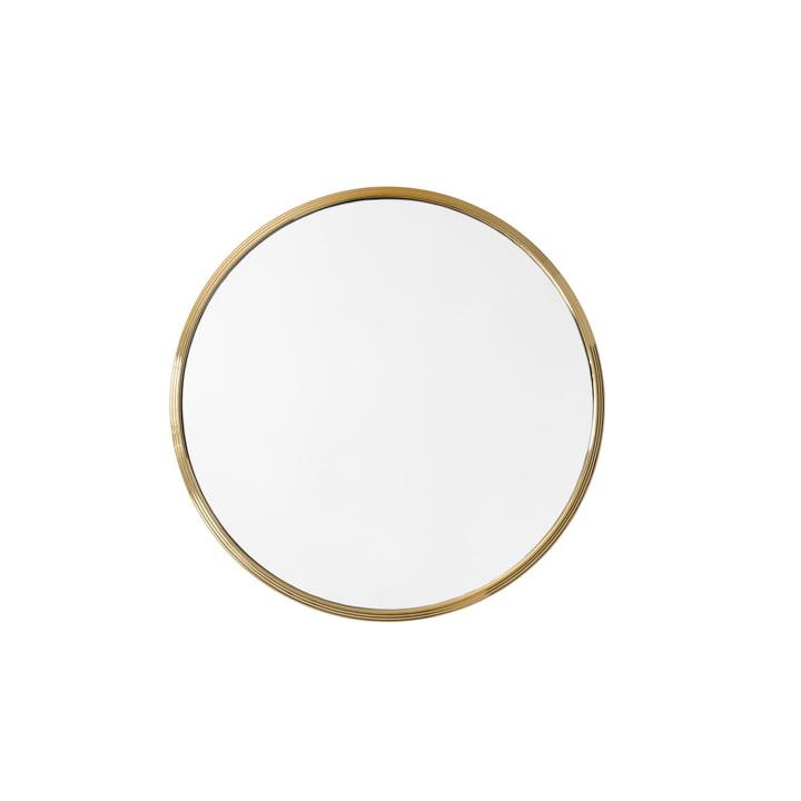 Sillon væg spejl SH4, Ø 46 cm i messing af & tradition