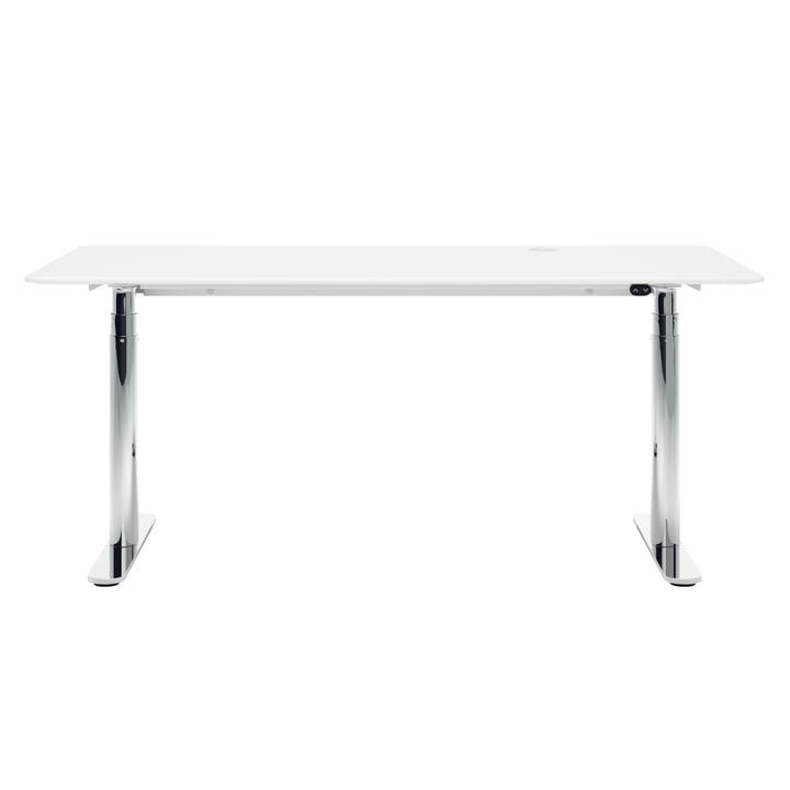 HiLow 2, højdejusterbart skrivebord, 160 x 80 cm, krom / sne fra Montana