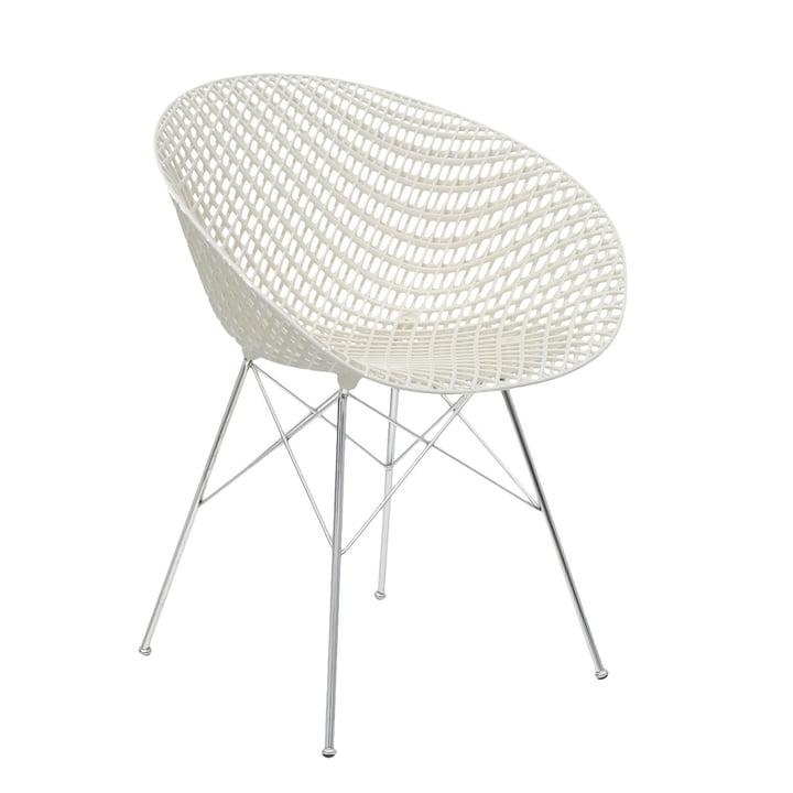 Smatrik stol i krom / hvid af Kartell