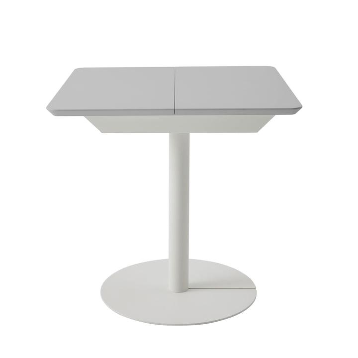 Duotable skrivebord af Müller Möbelwerkstätten i ren hvid (RAL 9010) / lysegrå (RAL 7035)
