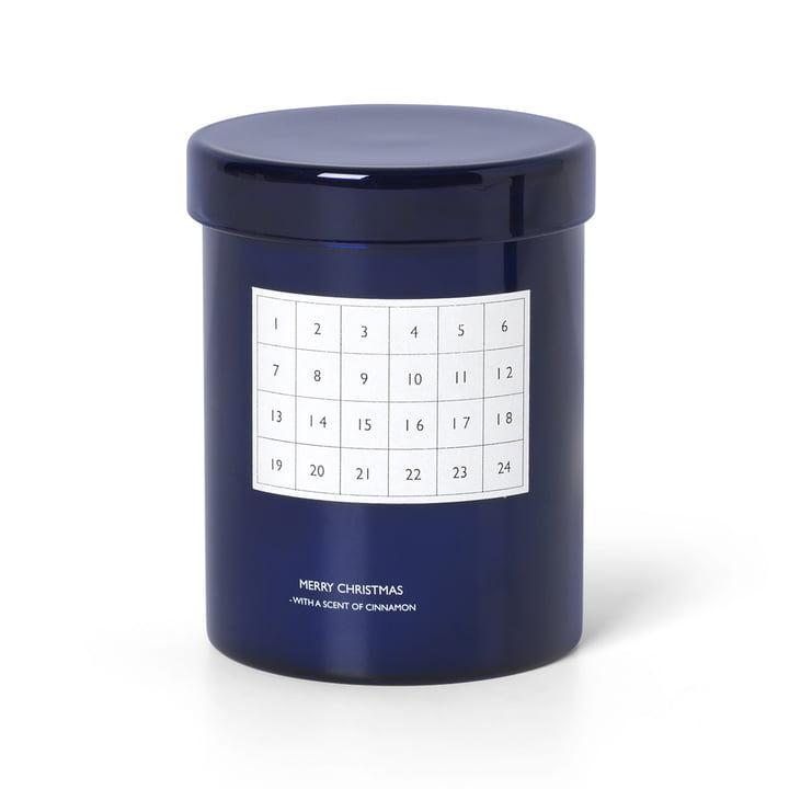 Duftende kalenderlys af ferm Living in blue