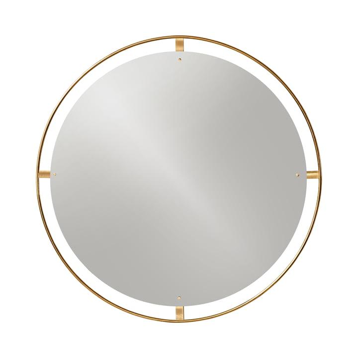 Nimbus spejl Ø 110 cm, poleret messing fra Menu
