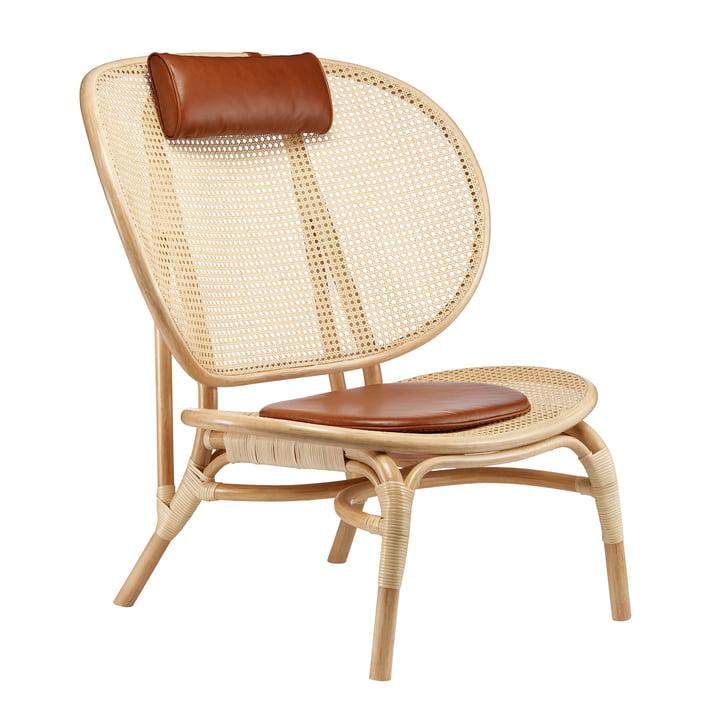 Nomad lænestol af Norr11 i natur / cognac