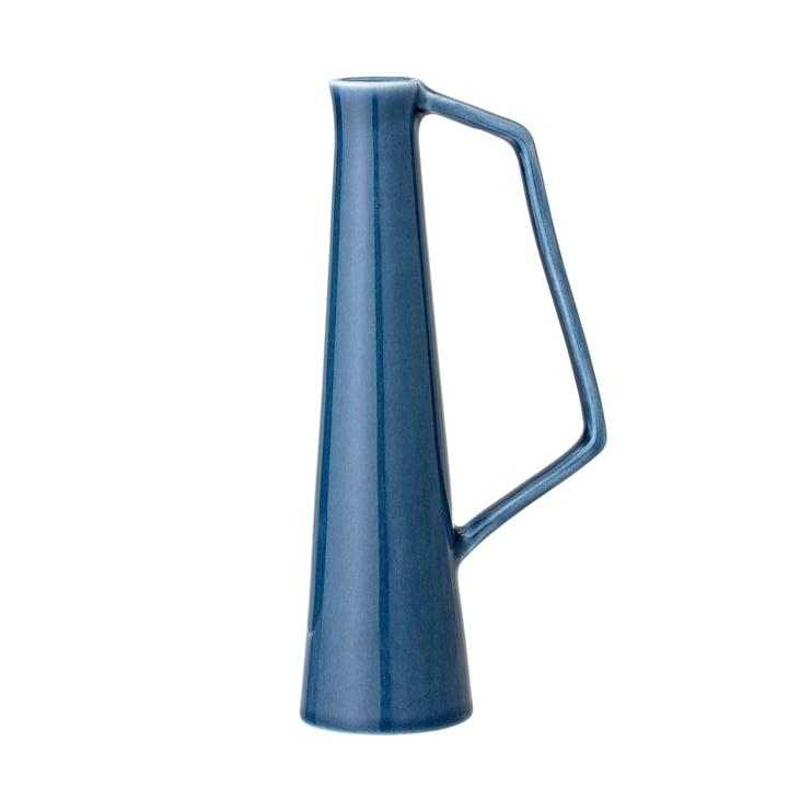Stentøjsvase med håndtag, Ø 5,5 x H 20,5 cm i blåt fra Bloomingville