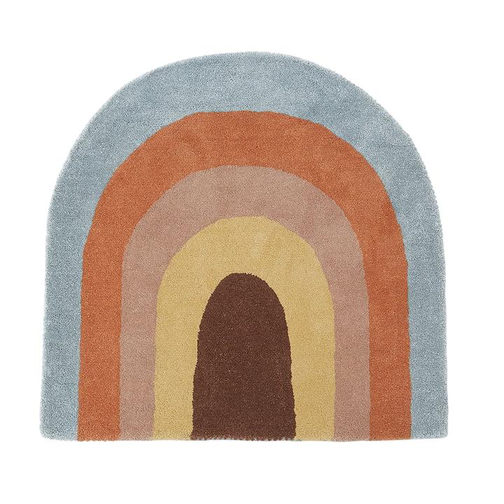 Børnetæppet 88 x 90 cm regnbue fra OYOY