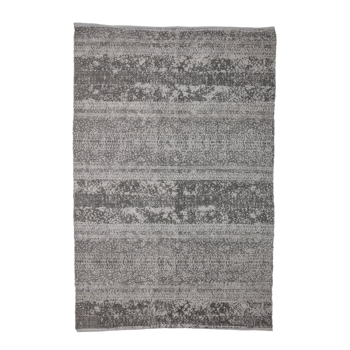 Tæppe med mønster, 180 x 120 cm, grå af Bloomingville