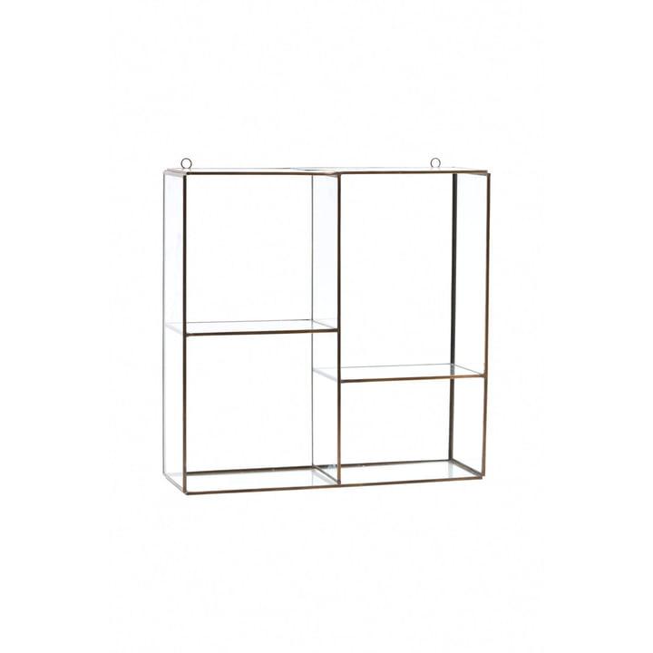 Keeper væghylde / skab H 33 cm af House Doctor i messing / glas