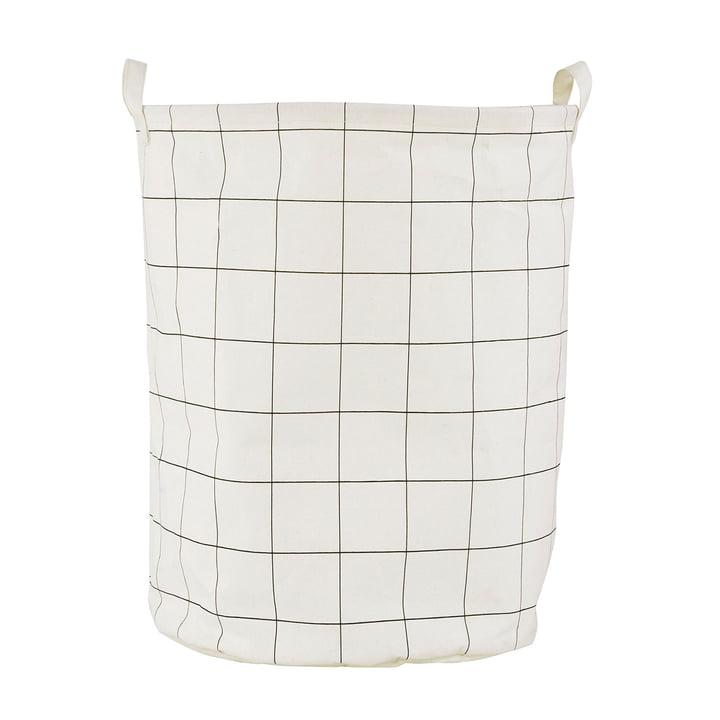 Vasketøjskurv firkanter Ø 40 x H 50 cm af House Doctor i sort / hvid