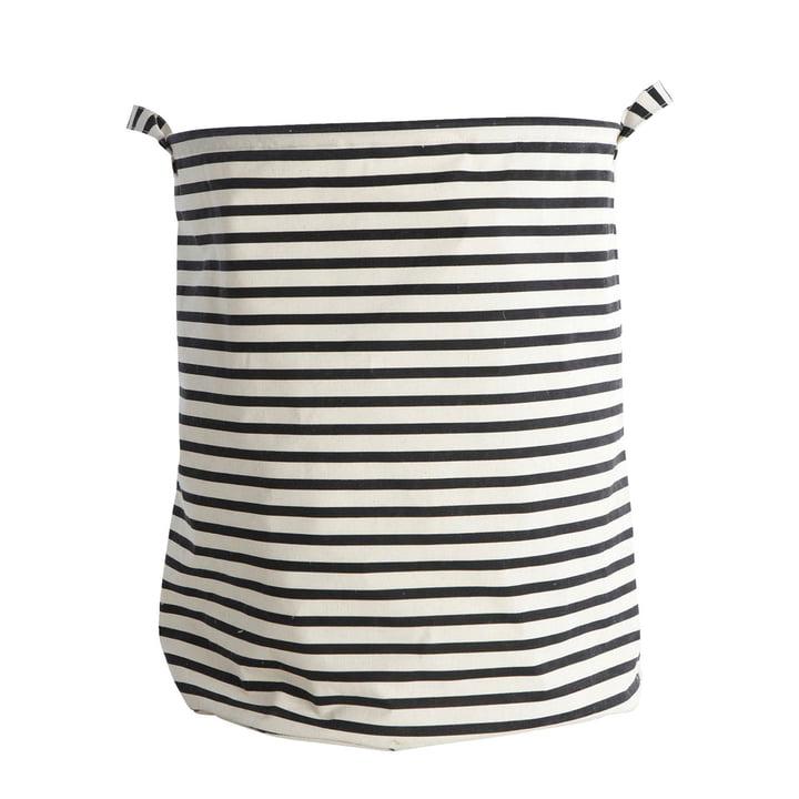 Vasketøjskurv striber Ø 40 x H 50 cm af House Doctor i sort / hvid
