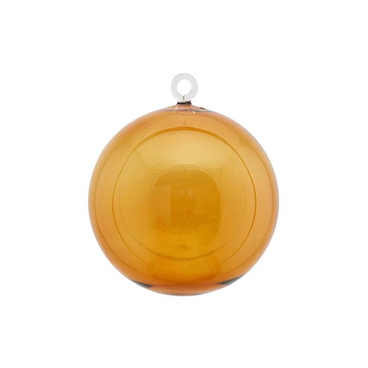 Glasjule bauble Ø 12 cm af House Doctor i gult