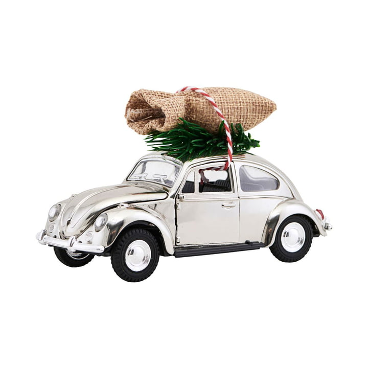 Xmas Cars Deco Cars 12,5 cm af House Doctor i krom