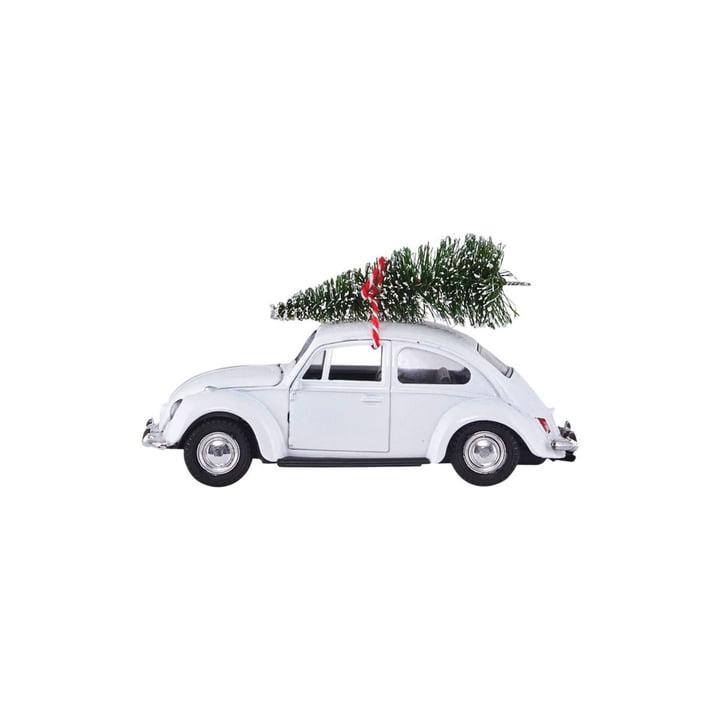 Xmas Cars Deco Cars 8,5 cm af House Doctor i hvidt