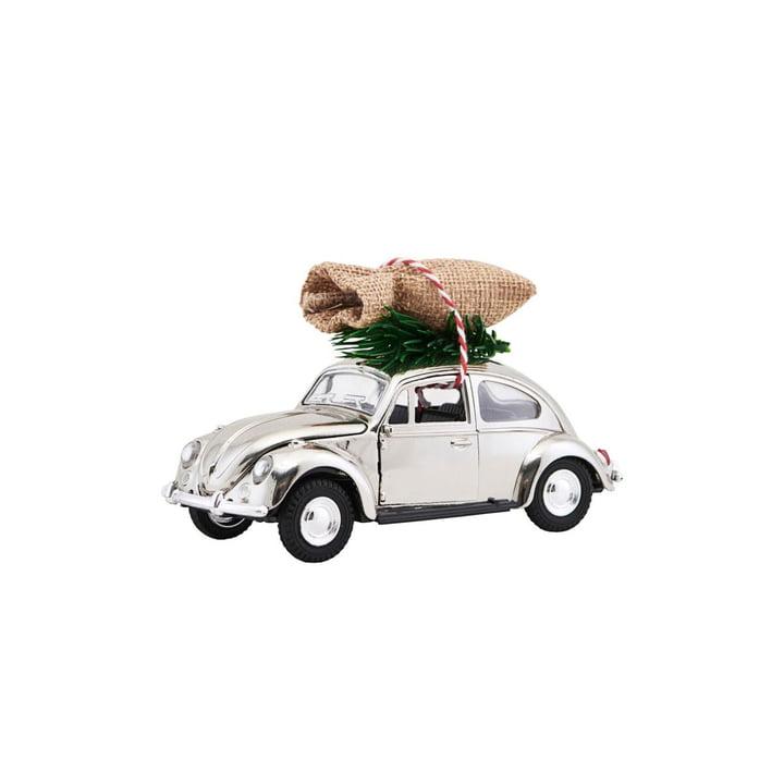 Xmas Cars Deco Cars 8,5 cm af House Doctor i krom