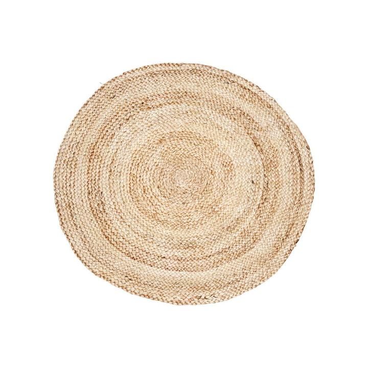 Hampe tæppet struktur Ø 100 cm af House Doctor i naturen