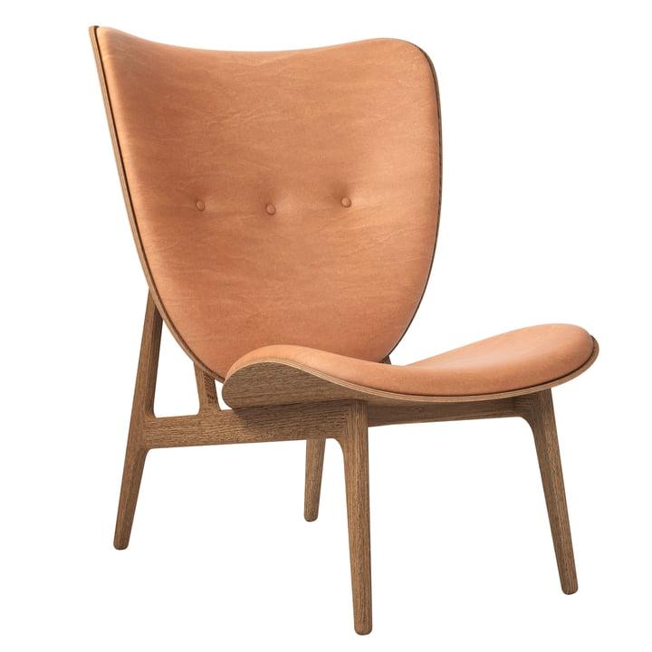 Elefant lounge stol af Norr11 i eg røget / læder cognac (21000)