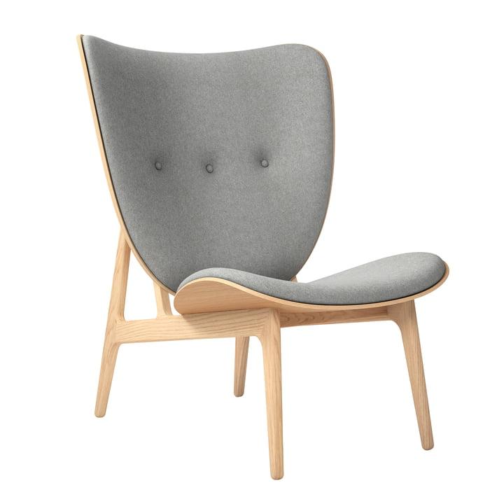 Elephant Lounge Chair af Norr11 i naturlige eg / uld lysegrå (lysegrå 1000)