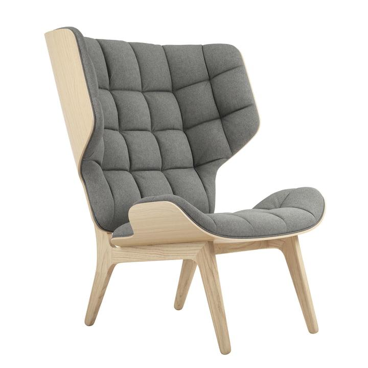 Mammoth Lounge stol af Norr11 i naturlige eg / uld lysegrå (lysegrå 1000)