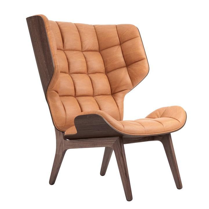 Mammoth lænestol fra Norr11 i eg-farvet / læder cognac (21000)