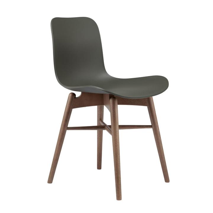 Langue Original stol af Norr11 røget i bøg / hærgrøn