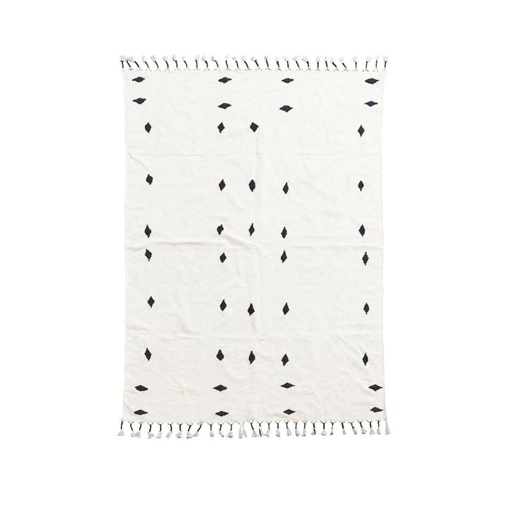 Bagside tæppe 200 x 140 cm af House Doctor i off-white